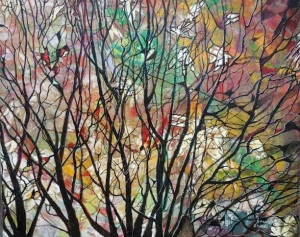 "Autumn Trees Oil on Board 16"" x 16"" €195"